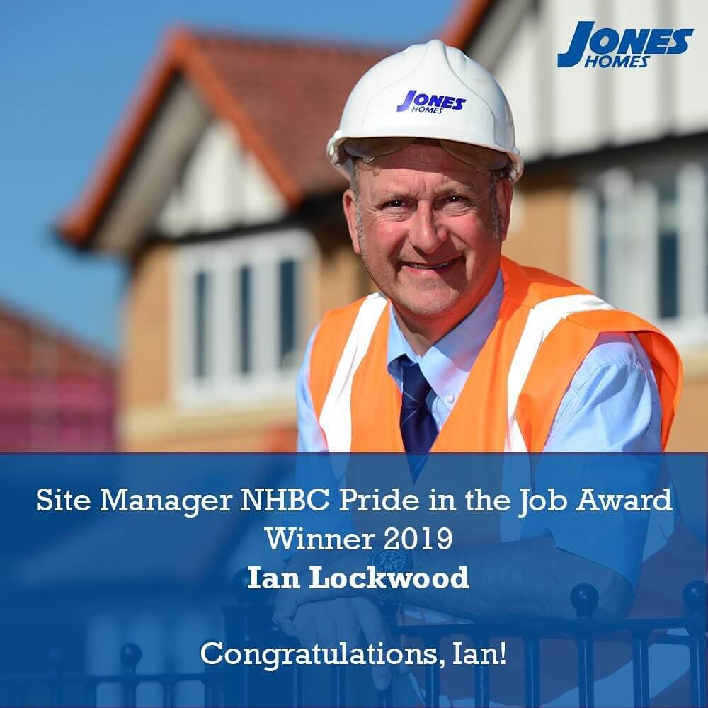 Exciting news from Harworth! Congratulations Ian Lockwood, from all of us at Jones Homes.  #joneshomes #joneshome #joneshomesuk #congratulations #proud #property #award