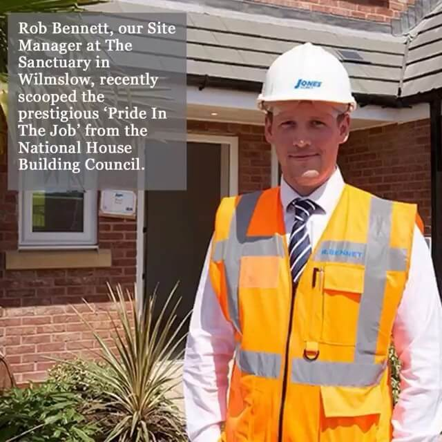 Congratulations to Rob Bennett who has won our site manager 'Pride in the Job' award for his work at The Sanctuary in Wilmslow.  #joneshomes #joneshomesuk #joneshome #congratulations #property #newhome #newhomes #newbuild #newbuildhome